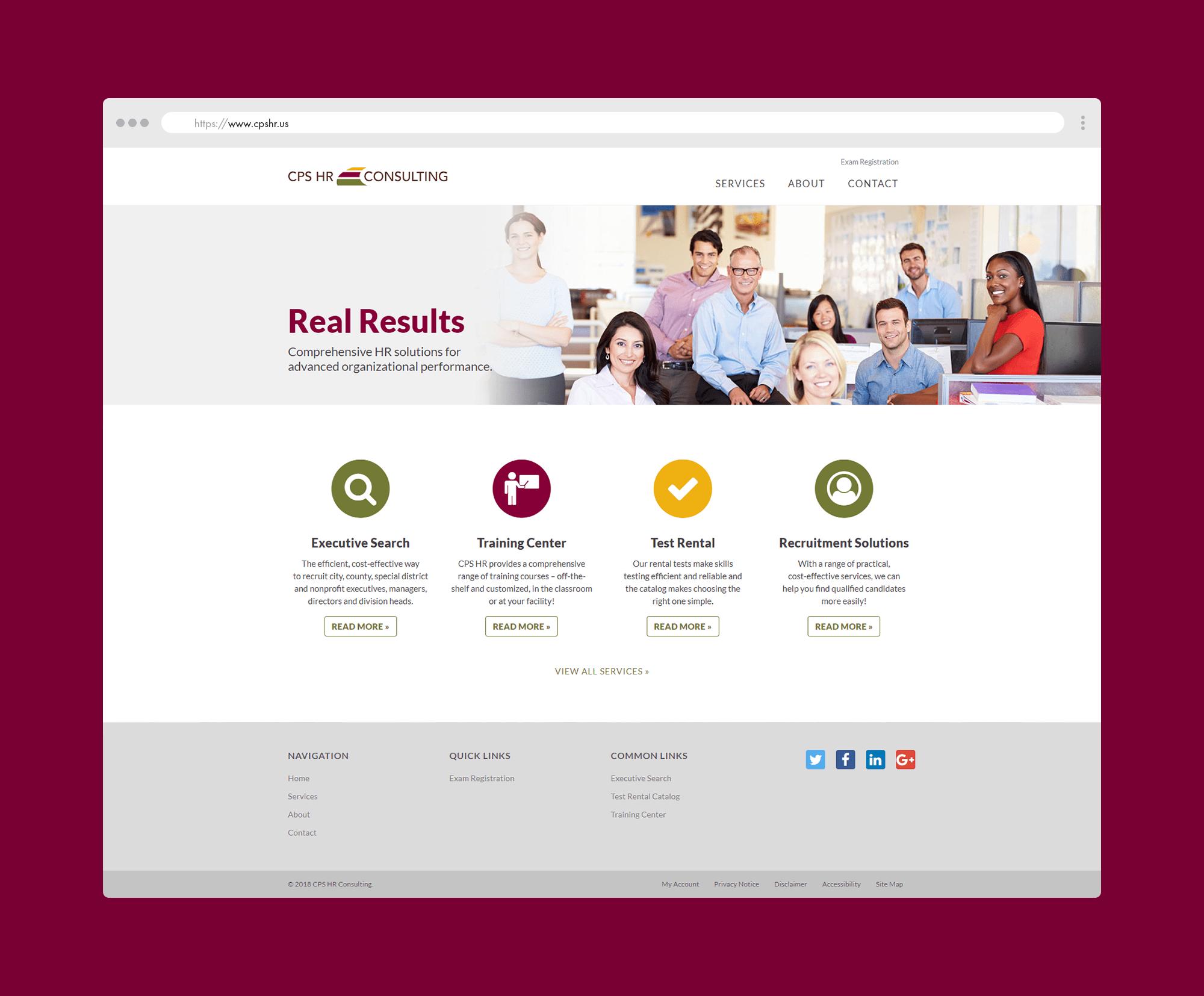 CPS HR Consulting – Website Redesign – Shane Steiner